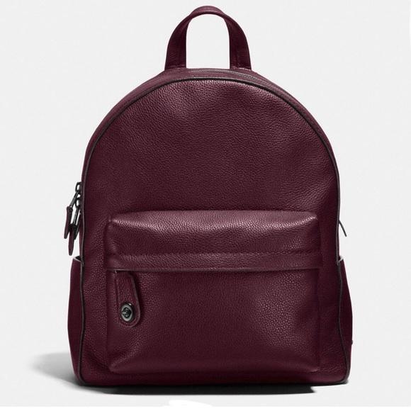 4ae1f17178e6 Coach Handbags - Coach Campus Backpack Pebbled Leather Oxblood
